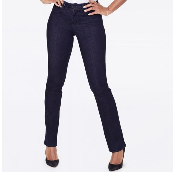 NYDJ Denim - NYDJ Marilyn straight jeans in black rinse